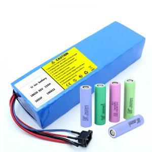 Lityum Batareya 18650 60V 12AH litium ionu ilə doldurulan scooter batareya paketi
