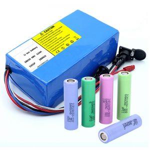 Lithium Batareya 18650 48V 12AH 48V 500W BMS ilə Elektrikli Velosiped Batareyası