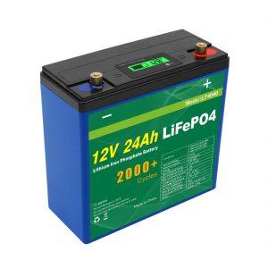 Günəş Dərin Dövrü 24v 48v 24ah Lifepo4 Batareya Paketi UPS 12v 24ah Batareya