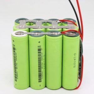 Elektrikli alət üçün topdan 18650 lityum 4s3p suya davamlı PCB lövhəsi dərin dövrü batareyası 12v 10AH
