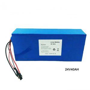 Elektrikli Velosiped Velosiped 24 Volt Lityum Batareya 24V 40Ah NMC Li İon Batareya Paketi Yenidən doldurula bilən batareya ion lityum