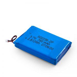 LiPO şarj olunan batareya 502236 3.7V 380mAH / 3.7V 760mAH /7.4V 380mAH
