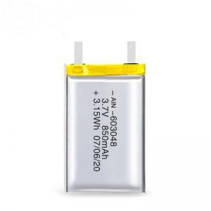 LiPO şarj olunan batareya 603048 3.7V 850mAh / 3.7V 1700mAH / 7.4V 850mAH