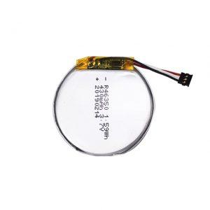 LiPO Xüsusi Batareya 46350 3.7V 350mAH ağıllı saat batareyası 46350 oyuncaqlar üçün kiçik düz dəyirmi litium polimer batareya